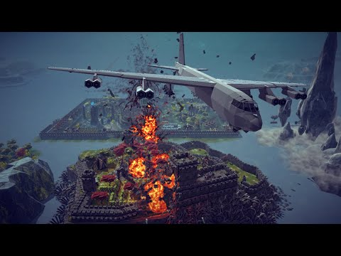 B-52 Stratofortress Carpet Bombs a City + Other Awesome Destruction   Besiege
