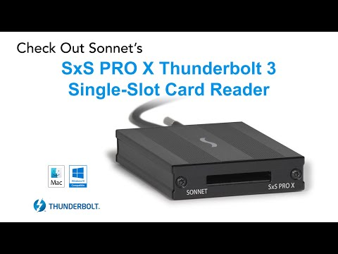 SxS PRO X Thunderbolt 3 Single-Slot Card Reader - Product Overview