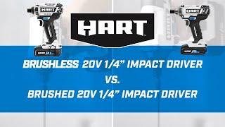 20V Brushless Impact Driver verses Brushed Impact Driver