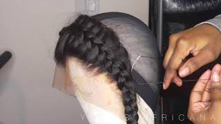 How To Make A Frontal Wig Ft. Wiggins Hair | Young Africana