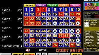 Four Card Keno 7 Spot Pattern 1-20-20