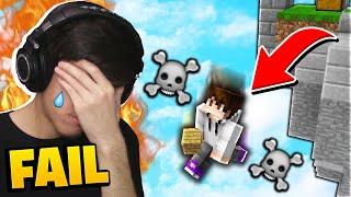 EPIC FAIL! (Minecraft Skywars 1v1v1v1)