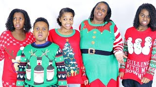 CHRISTMAS SWEATER SURPRISE FROM GRANDMA! - Onyx Family