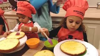 Детский Влог.День Рождение моей сестрёнки! Готовим тортики!Dragonette- Get Lucky.❤️