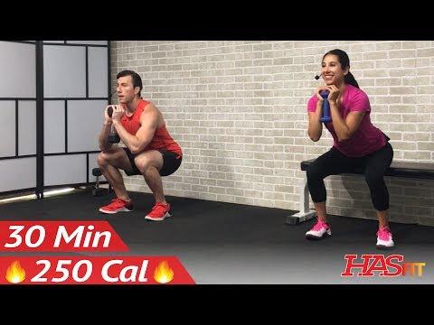 30 Minute Beginner Weight Training for Beginners - Home Strength ...