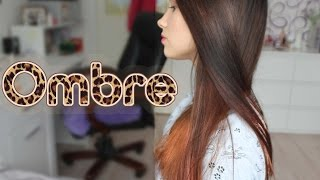Омбре на тёмных волосах дома. OMBRE on dark hair| Lina Deringer