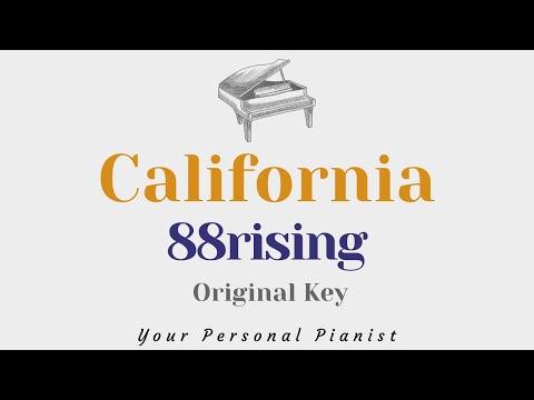 California - 88 Rising, Rich Brian, Niki, Warren Hue - Piano Instrumental Karaoke Cover