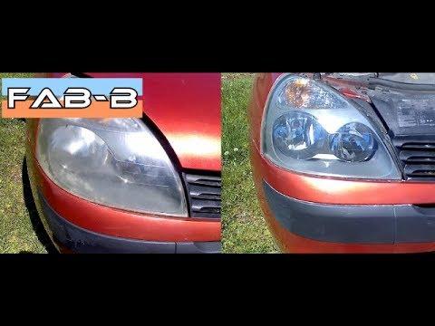 Rénovation de phares ternis sans outils sur Clio 2 phase 2