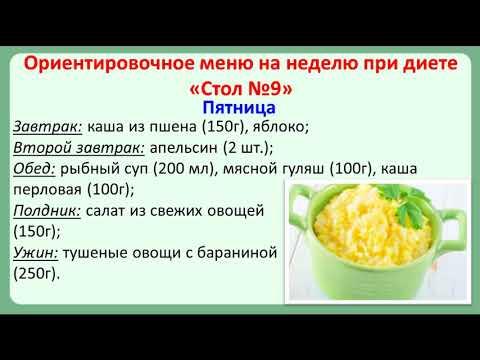 Стол №9 при сахарном диабете  Меню на неделю и рецепты диетических блюд