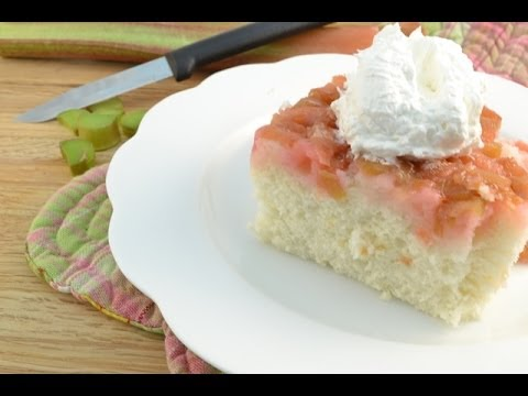 Video Rhubarb Upside-Down Cake Recipe | RadaCutlery.com