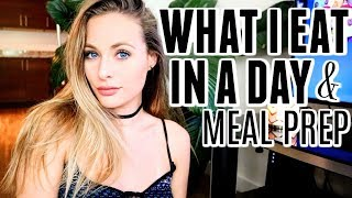 What I Eat In A Day // Meal Prep w Me - High Vibe Living | Vegan