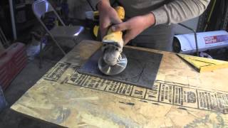 How to Cut Porcelain Tile-using an angle grinder
