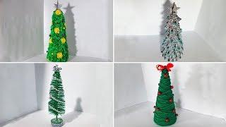 10 новогодних Ёлок из разных материалов. Новогодние поделки
