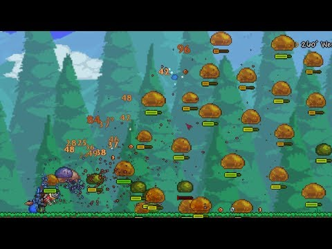 Terraria EXPERIMENT: Fastest Weapon Hacked With Highest Knockback