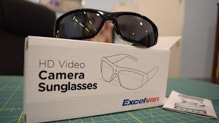 "$20 Excelvan HD 720p ""Spy Sunglasses"" Unboxing, Test footage, Overview"
