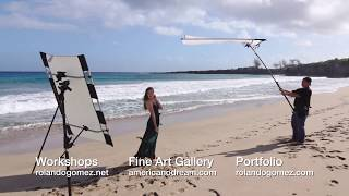 Rolando Gomez - Photographer and Model with SUN-SWATTER and Photography Reflector in Maui
