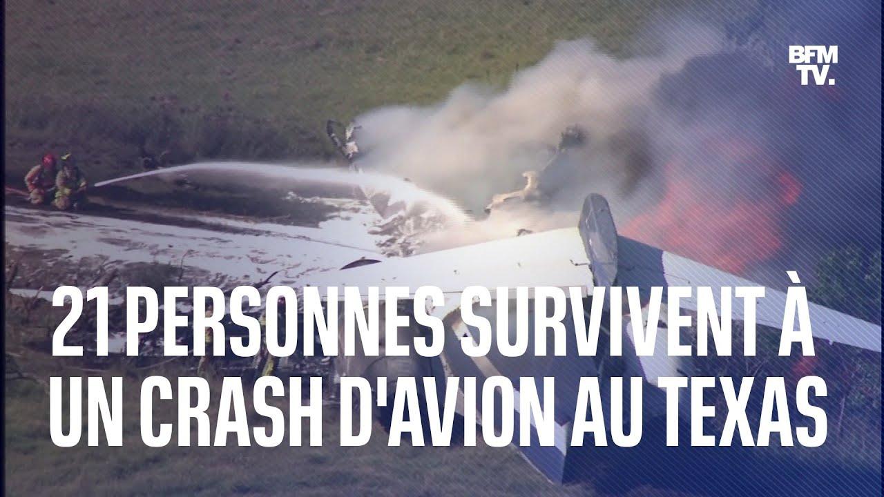 21 personnes survivent à un crash d'avion au Texas