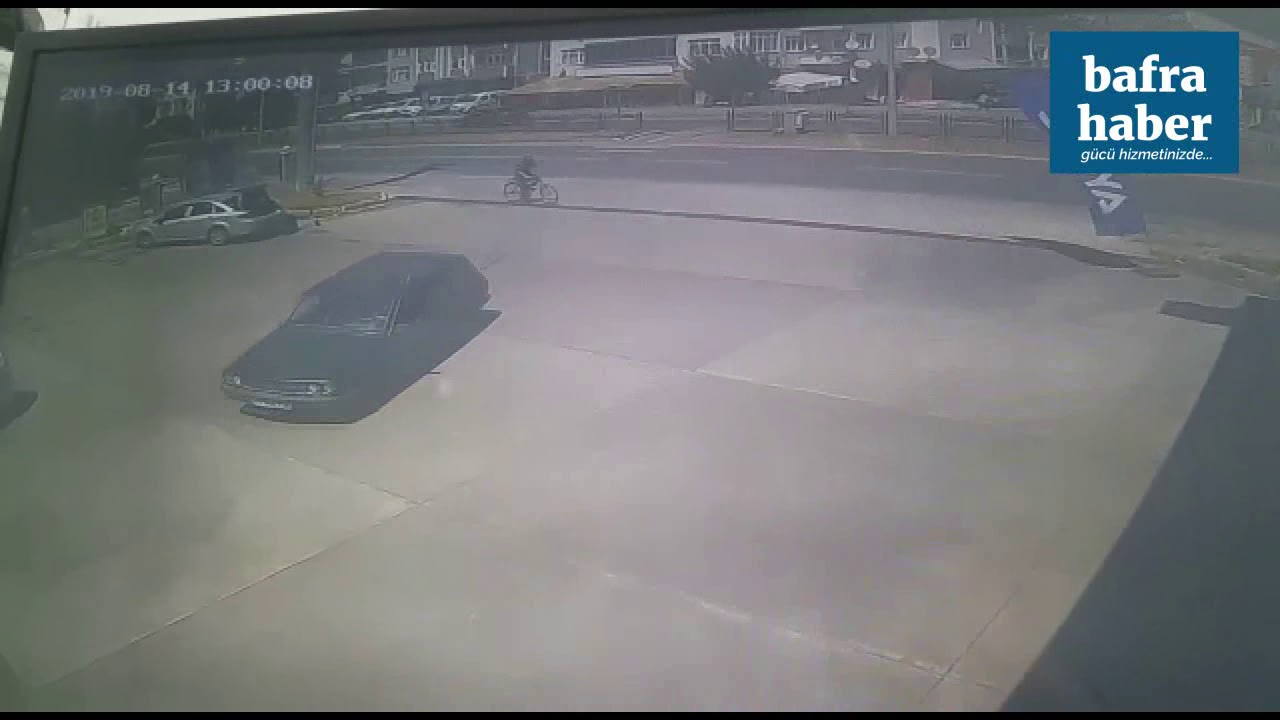 Bafra'daki Ölümlü motosiklet kazasının görüntüleri kameraya yansıdı