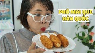 Làm Phô Mai Que Hàn Quốc Và Bánh Mì Xúc Xích Bò Wagyu Tặng Anh Tiểu Bảo Bảo Thúi
