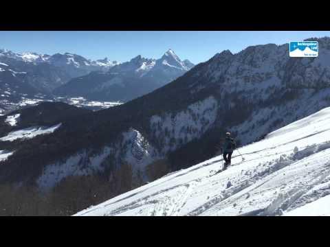 Schneeschuhwandern Scheibenkaser am Untersberg