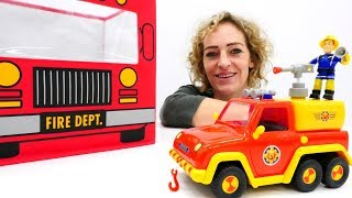 Video auf Deutsch mit Nicole. Feuerwehrmann Sam und seine Feuerwehrauto.