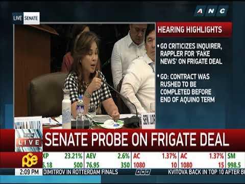 Frigate deal probe 'wasting' Duterte aide's time: Legarda