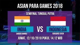 Jadwal Laga Semifinal Badminton Tunggal Putra, India Vs Indonesia di Asian Para Games 2018