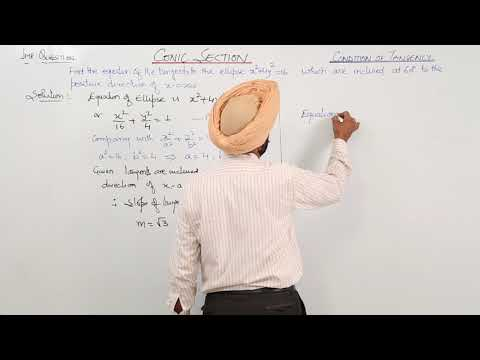 268. ICSE MATH XII - Chapter 4 - Condition Of Tangency - L5 - Important Question