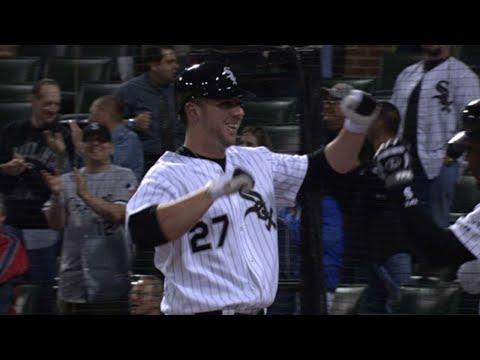 Josh Fields belts a homer in his first MLB at-bat