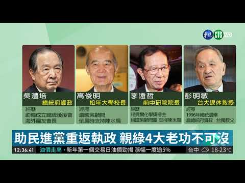 親綠大老籲蔡總統棄連任 綠營不滿  華視新聞 20190103