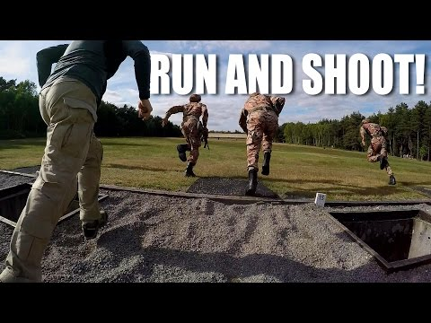 Run and shoot: Falling Plate targets