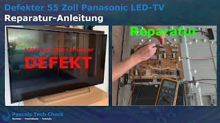 Reparatur-Anleitung || Für defekten Panasonic TX-55DXF687 55 Zoll LED TV (LED-Fernseher)