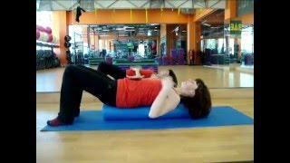 Смотреть онлайн Упражнения с роллом: пилатес
