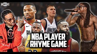 THE NBA PLAYER RHYMING GAME