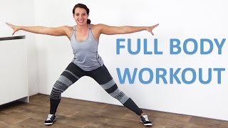 Full Body Workout for Women – 20 Minute Home Exercise – At Home With No Equipment by FitnessType
