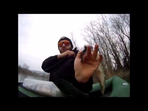 Inverno pescando su video di Volga