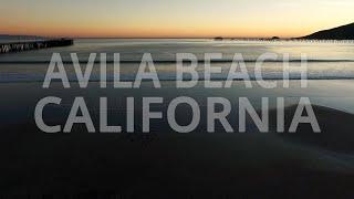 Winter Sunset Flight Over Avila Beach [shot on a DJI Phantom Pro]