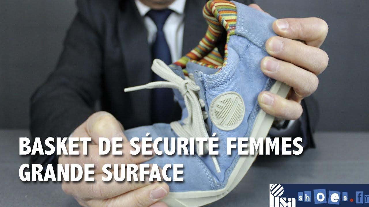 Chaussure haute de sécurité bleue pour femme confortable - Lisashoes 5470ca7cee61