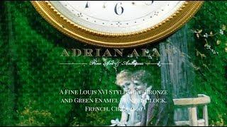 Louis XVI Style Enamel Clock