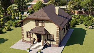 Проект дома 125-G, Площадь дома: 125 м2, Размер дома:  8,9x9,8 м