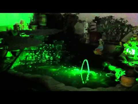 Nueva iluminación de mi estanque de kois
