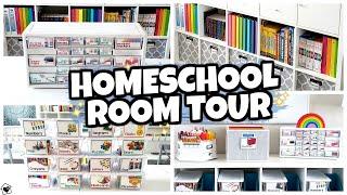 HOMESCHOOL ROOM MAKEOVER  🍎 Tour & Organization 2020-2021