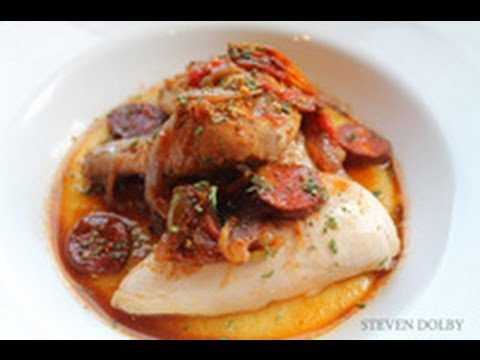 Mediterranean Braised Poussin with Polenta recipe