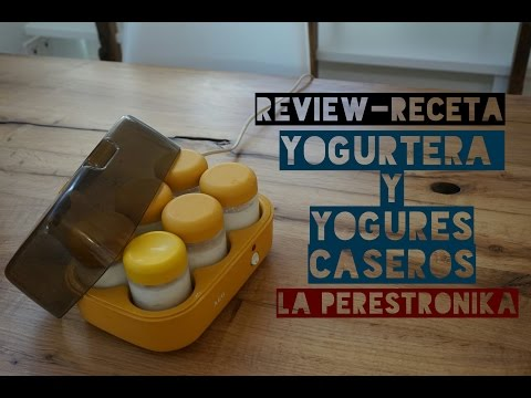 Video review-receta. Yogurtera y receta de yogures caseros cremosos