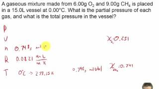 Chapter 11 - 17 - PROBLEM - Dalton's Law Of Partial Pressures