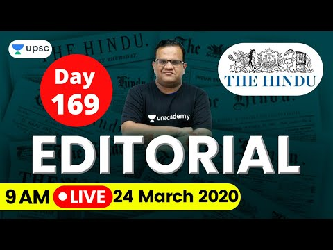 UPSC CSE 2020 | The Hindu Editorial Analysis for IAS Preparation by Ashirwad Sir | 24 March 2020
