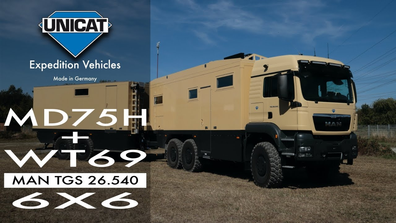 UNICAT Expedition Vehicles MD75HMB+WT69 – MAN TGS 26.540 6X6