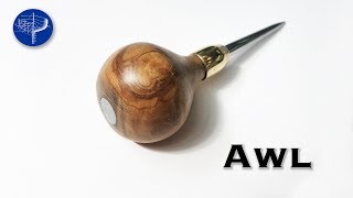 How to make an Awl with a Brass Ferrule.