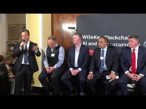 WISeKey DAVOS 2019 event on The Cybersecurity TechAccord