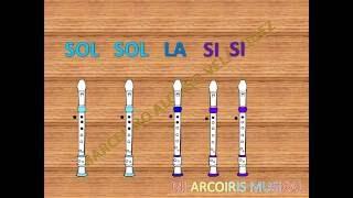 Flauta de pan - Con notas para  Flauta